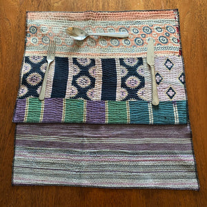 recycled cotton kantha placemat