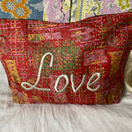 RECYCLED KANTHA LOVE TRAVEL BAG (12)