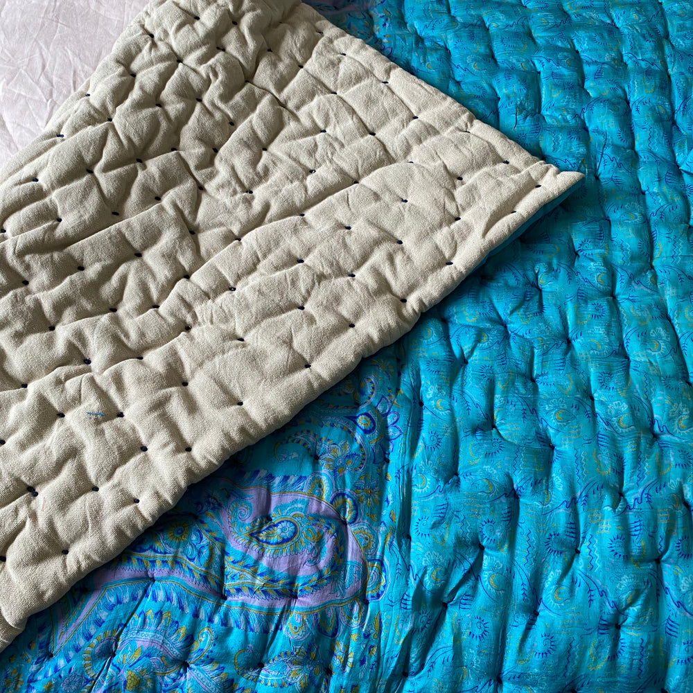 Recycled Silk Sari Quilt