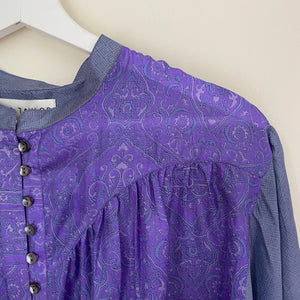 LILY RECYCLED SILK BOHO BLOUSE (7)