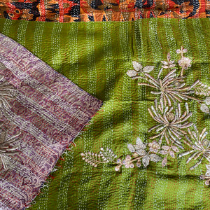 SERENITY ORIENTAL EMBROIDERED KANTHA SCARF