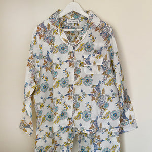 SPRING FLORAL COTTON PYJAMA SET