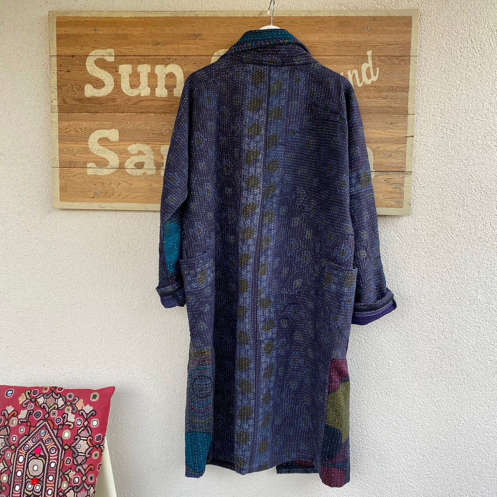TIA QUILTED KANTHA COAT