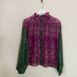 VICTORIA KIMBERLY RECYCLED SARI BLOUSE