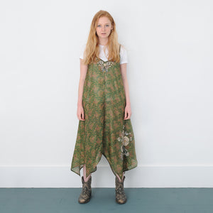 VIRGINIA JUDE RECYCLED SILK EMBROIDERED DRESS