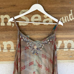 VIRGINIA TATUM RECYCLED SILK EMBROIDERED DRESS