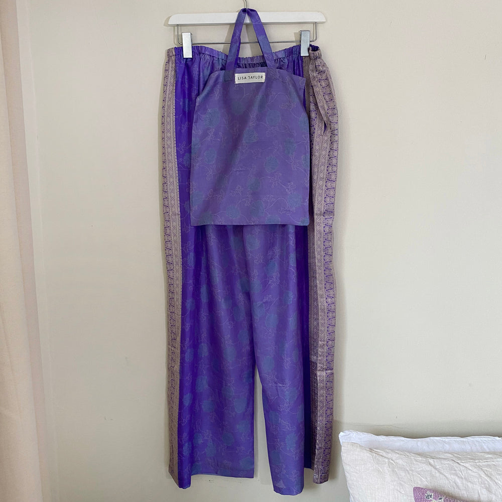 WYNTER RECYCLED SILK PJ BOTTOMS