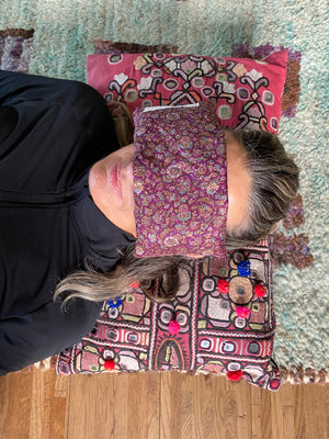 Recycled Sari Silk Yoga Eye Pillow