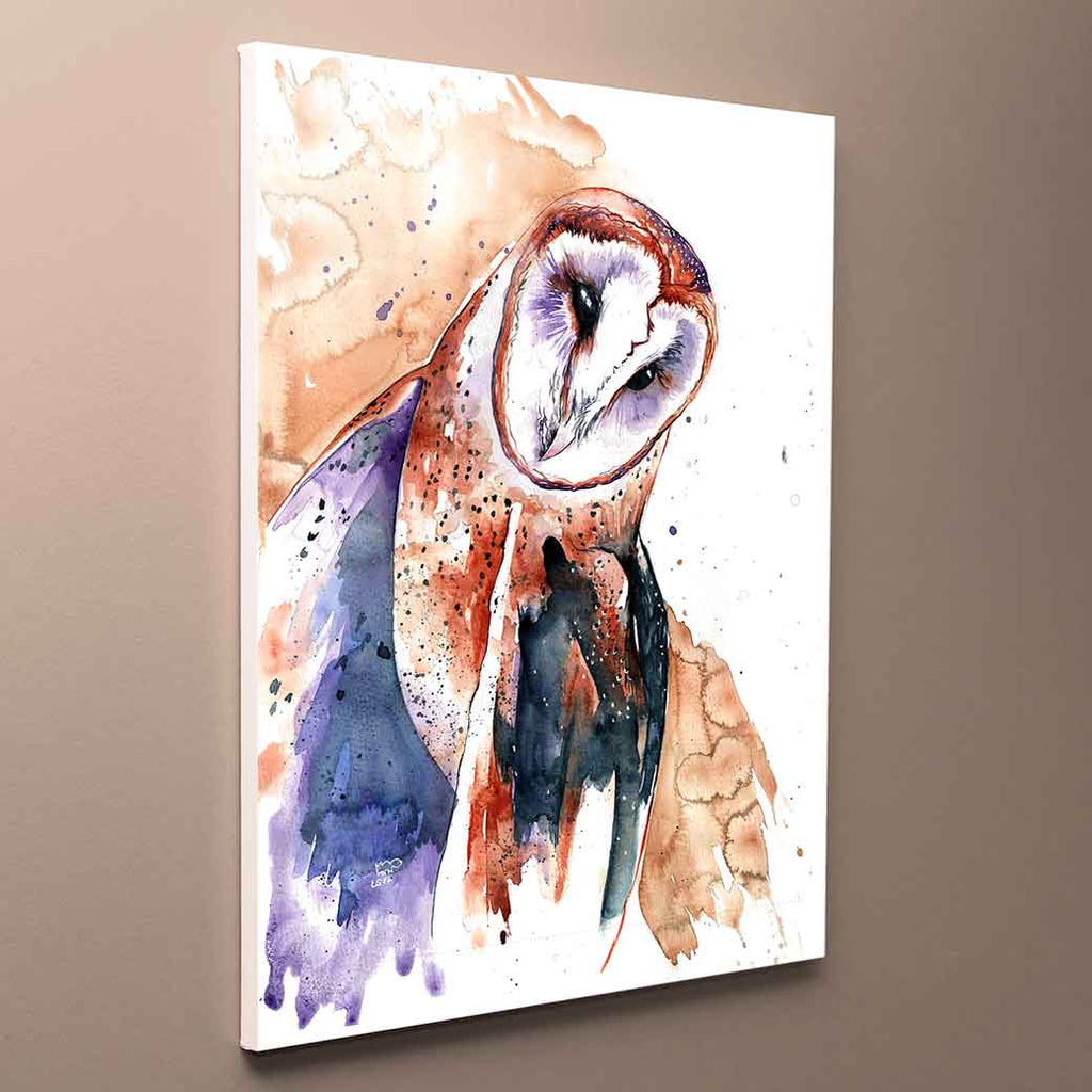 Brown Barn Owl Canvas Print
