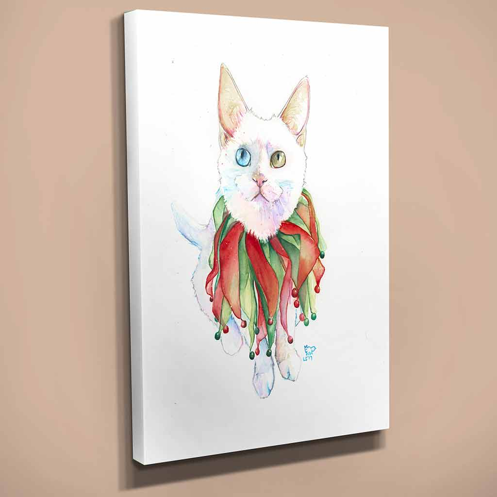 """Boo"" Cat Canvas Print"