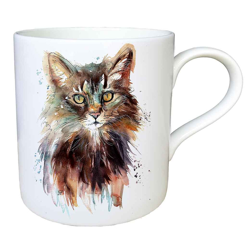 """Bronte"" Cat Fine China Large Mug"