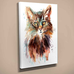 """Bronte"" Cat Canvas Print"
