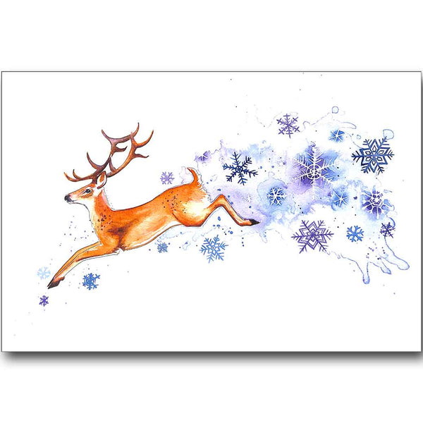 Festive Stag Christmas Card