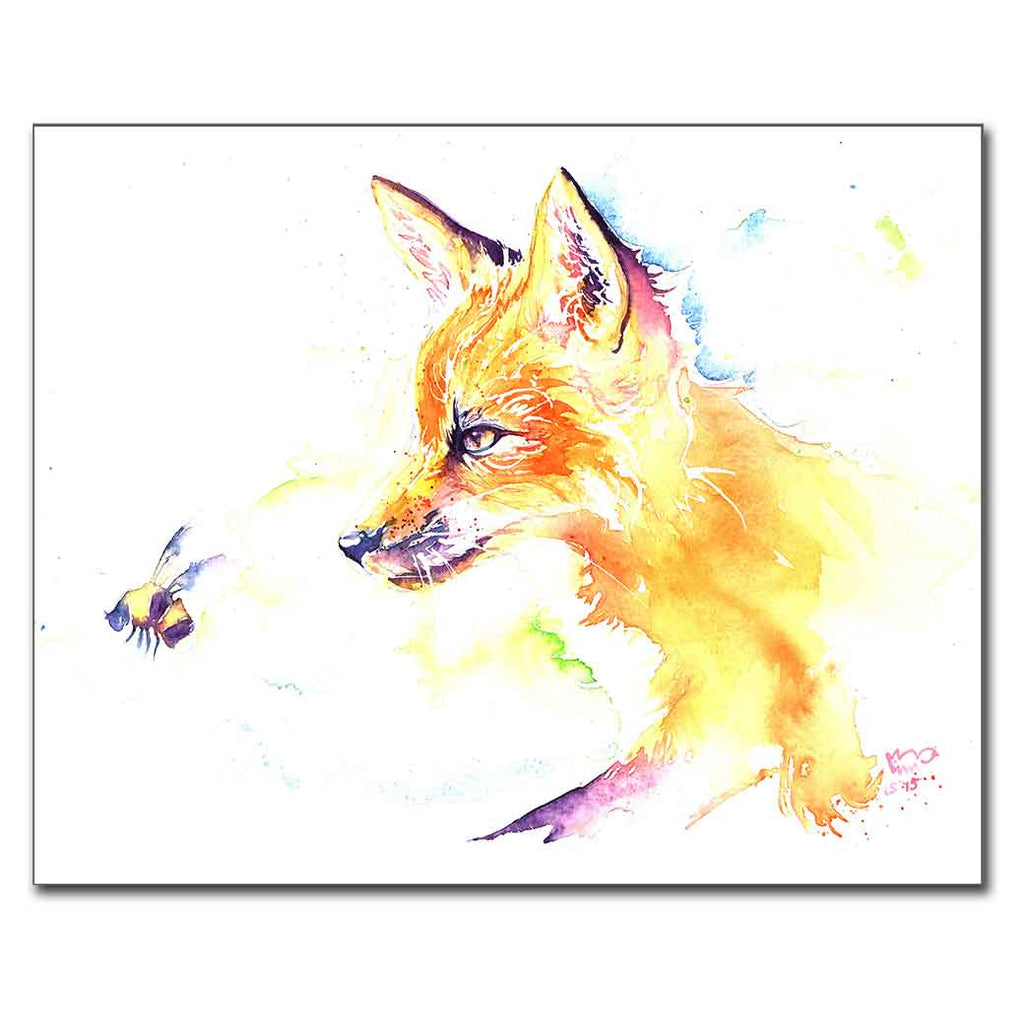 Fox with Bee Print