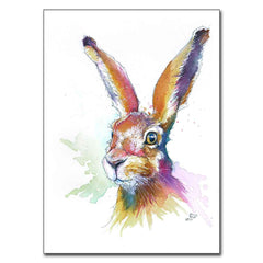 """Hartley"" Hare 5"" x 7"" Print (13cm x 18cm)"