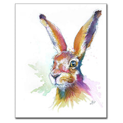 """Hartley"" Hare Print"