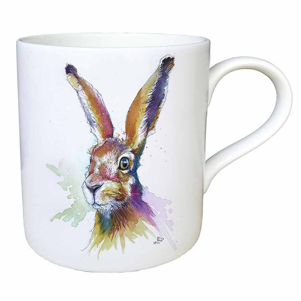 """Hartley"" Hare Fine China Large Mug"