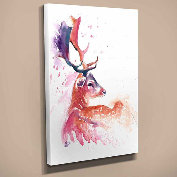 """Heavenly"" Stag Canvas Print"