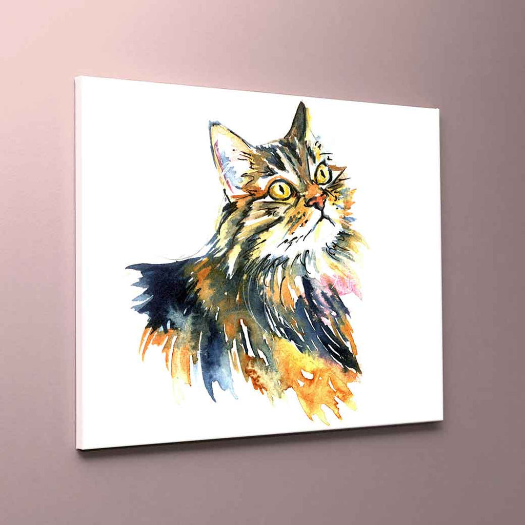 """Monty"" Cat Canvas Print"