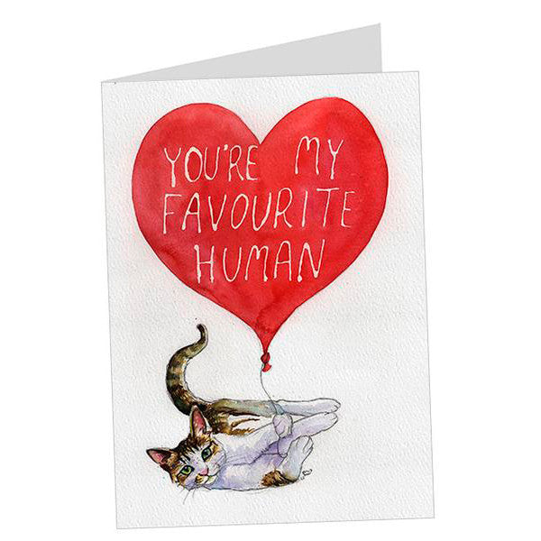 """My Favourite Human"" Card"