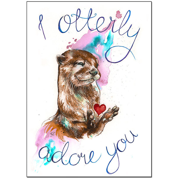 """I Otterly Adore You"" Print"