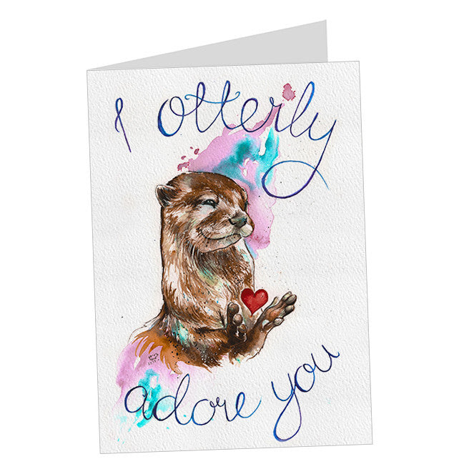 """I Otterly Adore You"" Card"