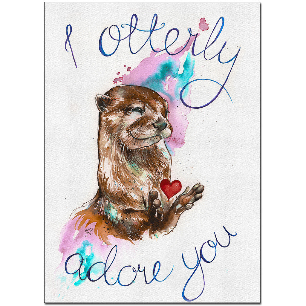 """I Otterly Adore You"" Fine Art Print"