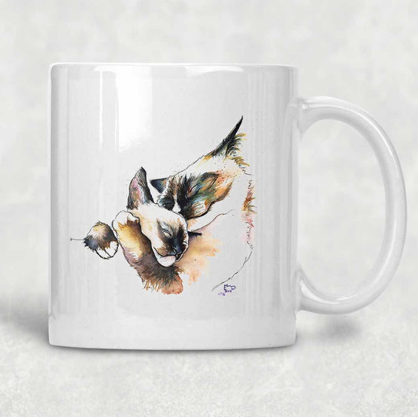 """Purrrfect Harmony"" Cat Mug"