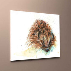 """Skittles"" Hedgehog Canvas Print"