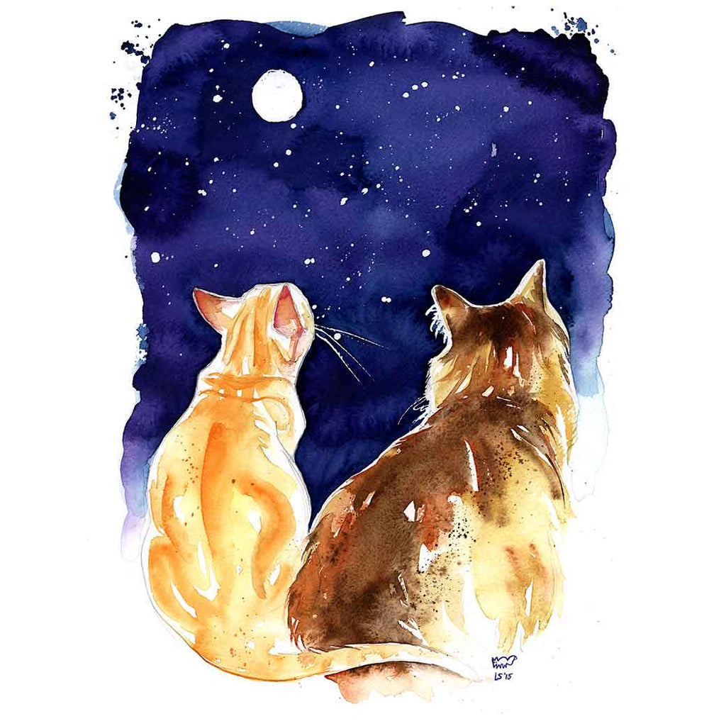 Stargazing Cats Mug