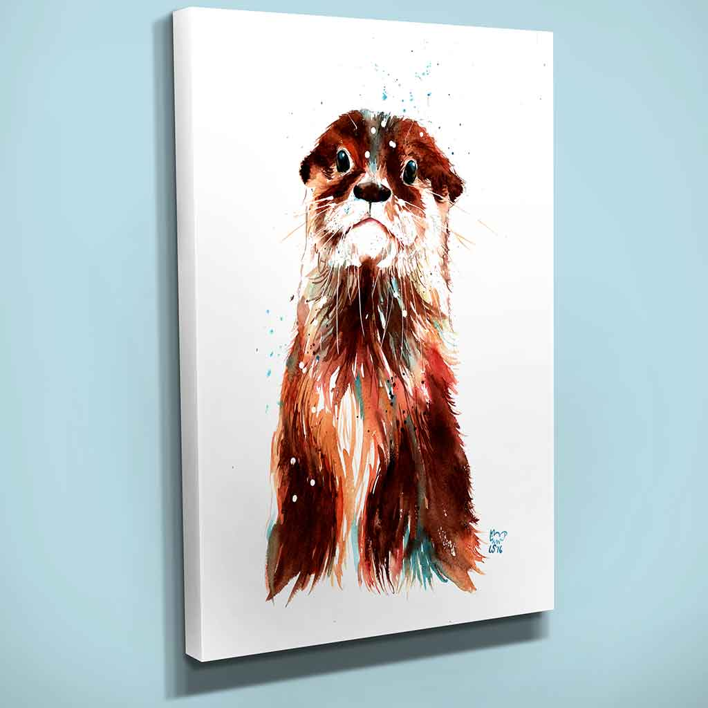 """Tambo"" the Otter Canvas Print"