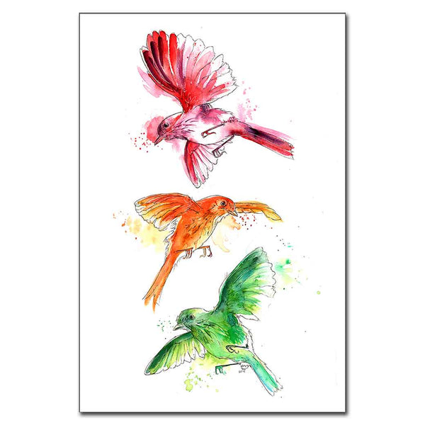 Three Little Birds Print