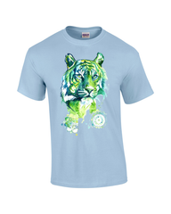 Mens T-shirt with Kali Green Tiger Print