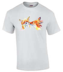 T-shirt with Smoochy Foxes Print