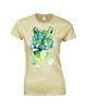 Ladies T-shirt with Kali Green Tiger Print
