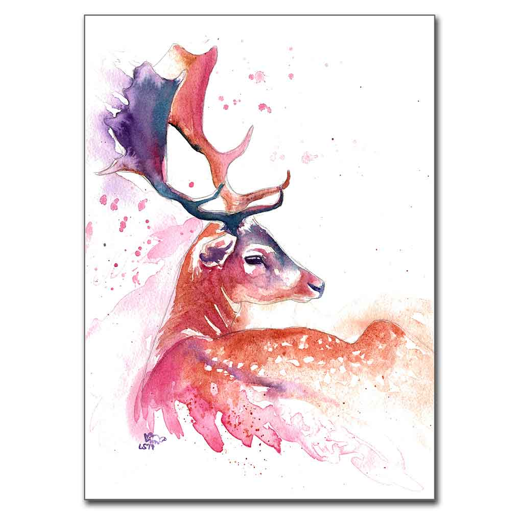 """Heavenly"" Stag 5"" x 7"" Print (13cm x 18cm)"