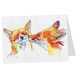 Smoochy Foxes Card
