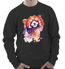 Sweatshirt with Red Panda Print