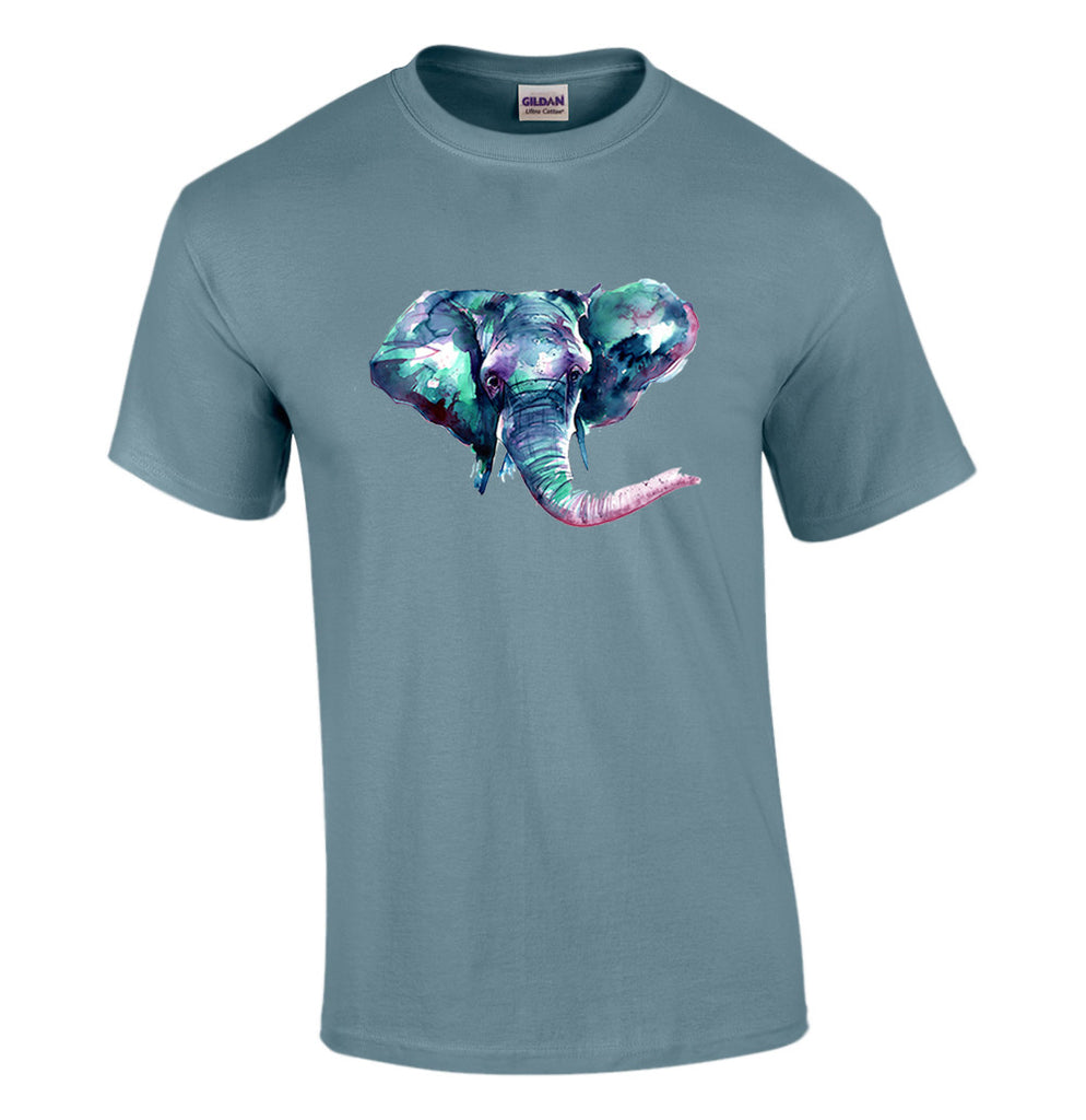 "T-shirt with ""Jambo"" Elephant Print"