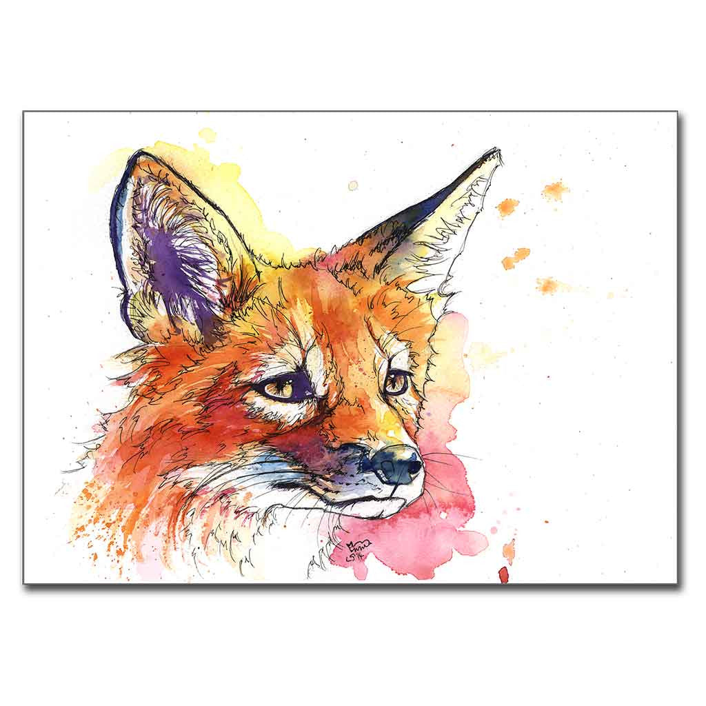 "Fox ""Kit"" 5"" x 7"" Print (13cm x 18cm)"