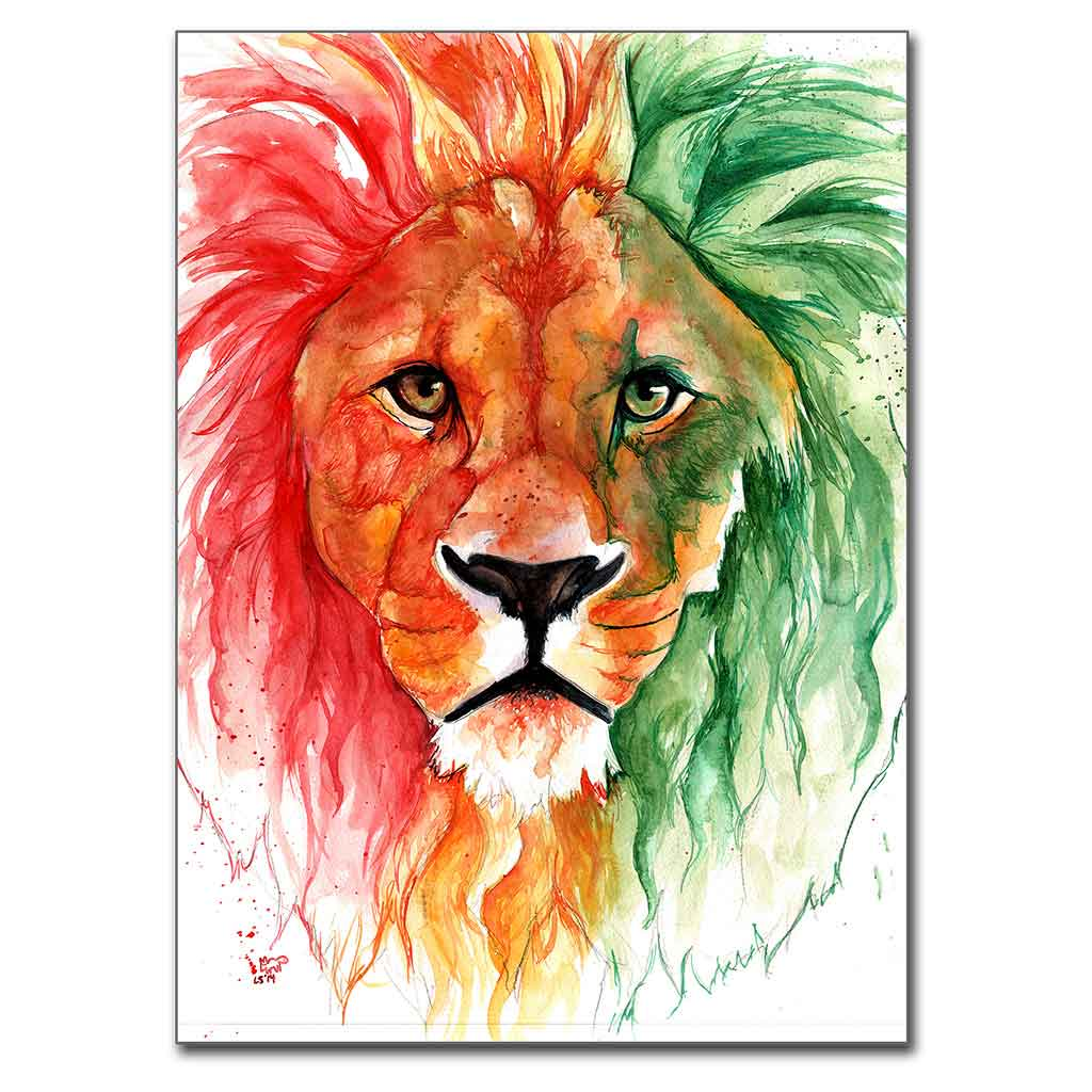 """Lion of Judah"" 5"" x 7"" Print (13cm x 18cm)"