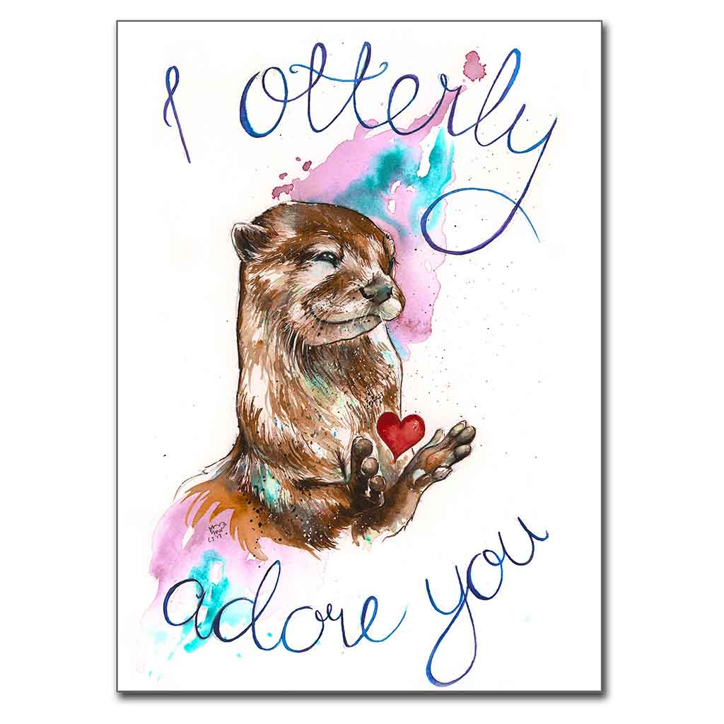 "I Otterly Adore You 5"" x 7"" Print (13cm x 18cm)"