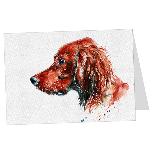 "Red Setter Dog Card ""Beau"""