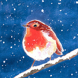 Red Robin Christmas Card
