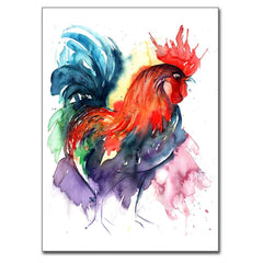 "Rooster (Standing Proud) 5"" x 7"" Print (13cm x 18cm)"