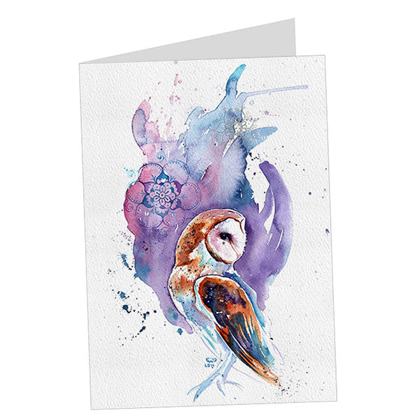 Barn Owl (Purple & Silver) Card