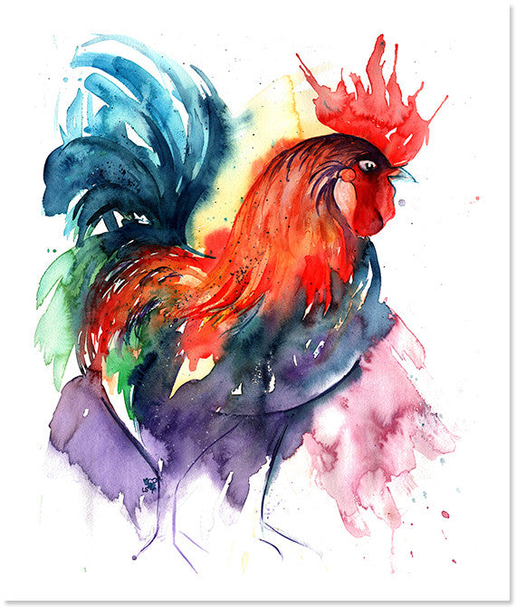 Standing Proud (Rooster) Art Print