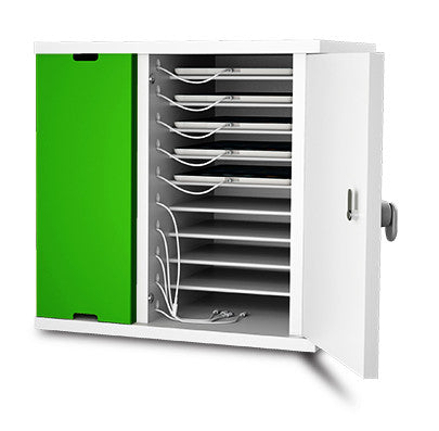 zioxi 10 Unit Storage and Charging Cabinet for iPads and Tablets with Code Lock