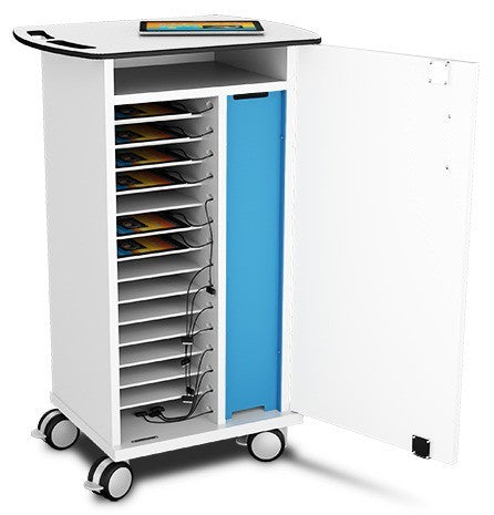 zioxi iPAD/Tablet Charge & Store Trolley 16 Unit with Key Lock