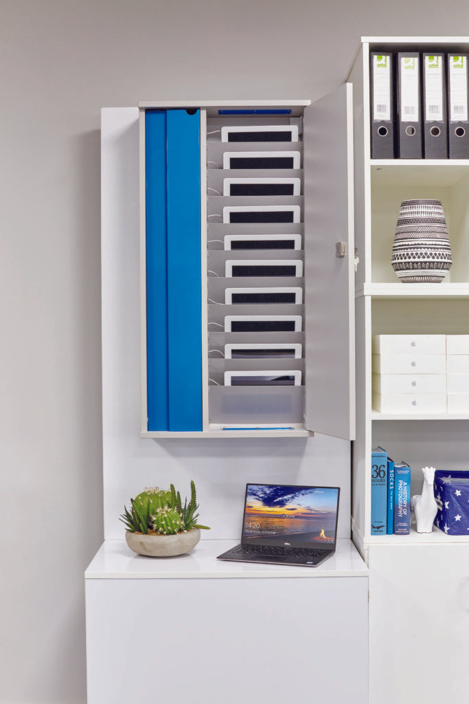 Lyte Wall - Wall-Hung Storage for 10 Tablets up to 11""